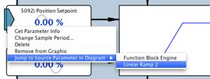 Ramp input link info